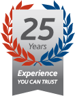 25 Years Experience You Can Trust